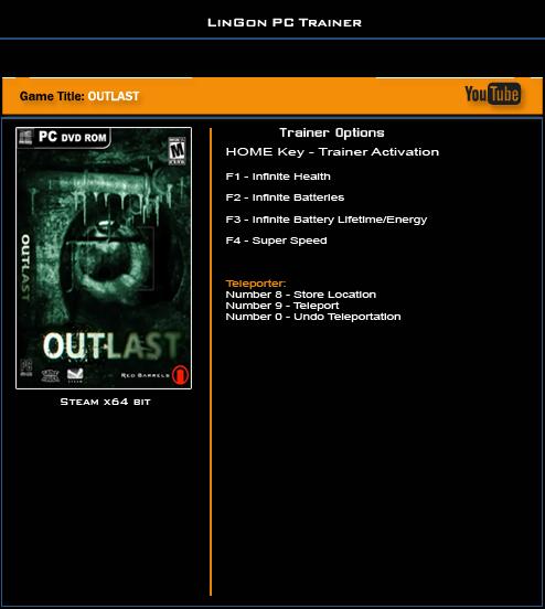 Трейнер (читы) для outlast 2   обзор компьютерных игр, патчи, моды.